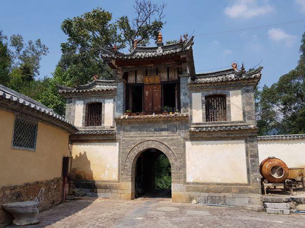北寨門因山清樹碧,取名為「鎖翠樓」。 特派員王玉燕/攝影