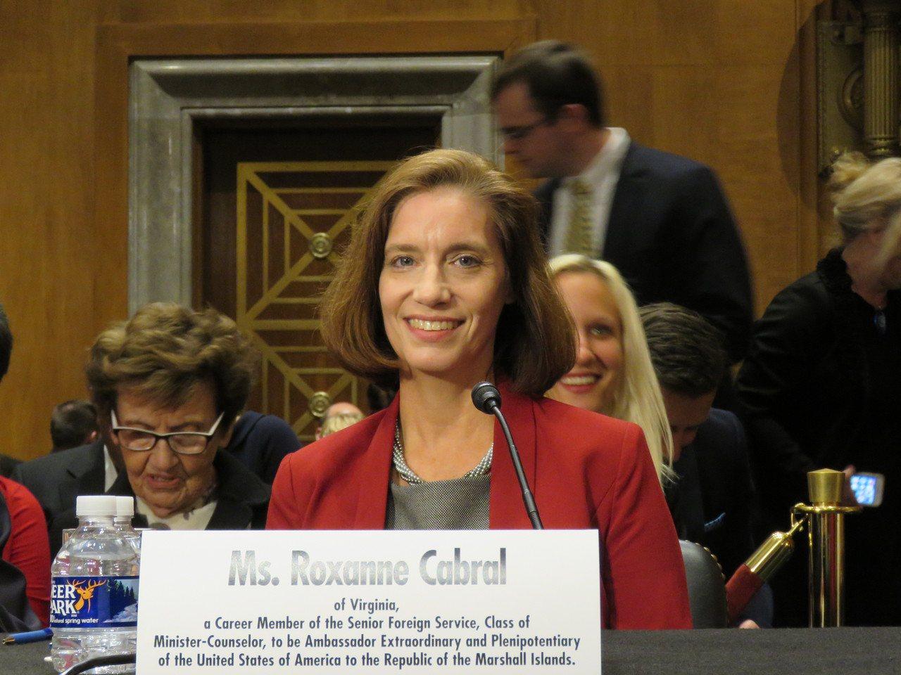 美國駐馬紹爾群島大使提名人康若珊29日出席聯邦參議院外委會舉行的提名聽證會。 華...