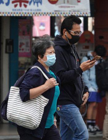 東北風挾帶中國沙塵逐漸影響臺灣空氣品質,北部空氣品質為橘色提醒對(敏感族群不健康...