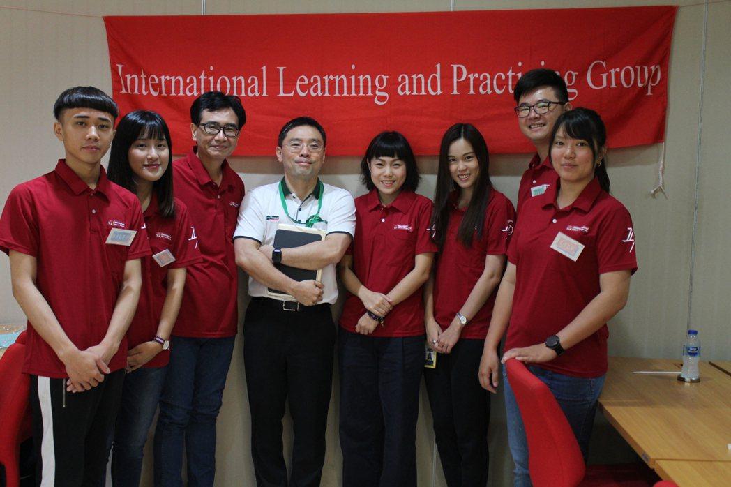 嘉藥環資系每年送學生至泰國Seagull公司實習。 嘉藥/提供