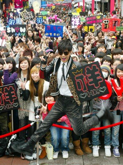 羅志祥在西門町舉辦簽唱會。報系資料照、記者陳再興/攝影