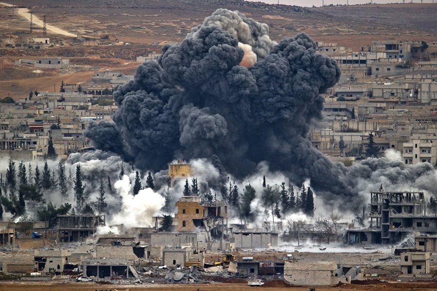 攝於2014年,土耳其與敘利亞邊界。 圖/美聯社