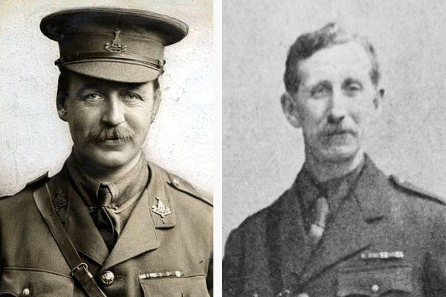 賽克斯—皮科協定以執筆的官員為名,英國方是馬克.賽克斯(左),法國為弗朗索瓦.皮...