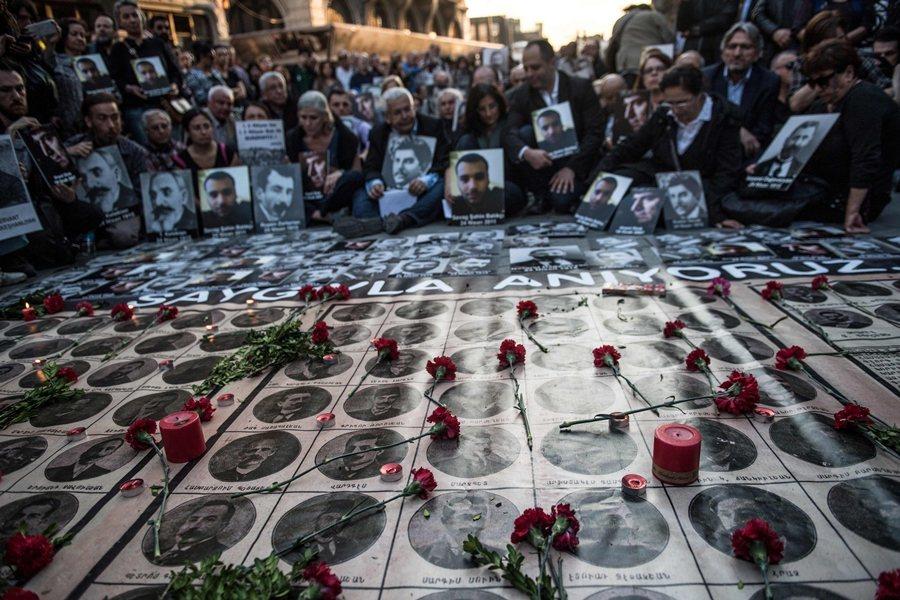 亞美尼亞種族大屠殺紀念日,攝於2018年。 圖/法新社
