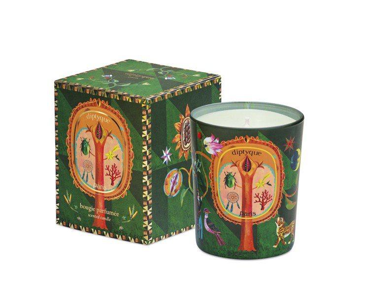 diptyque 2019耶誕限量蠟燭「蒼松庇佑,70g售價1,350元、190...