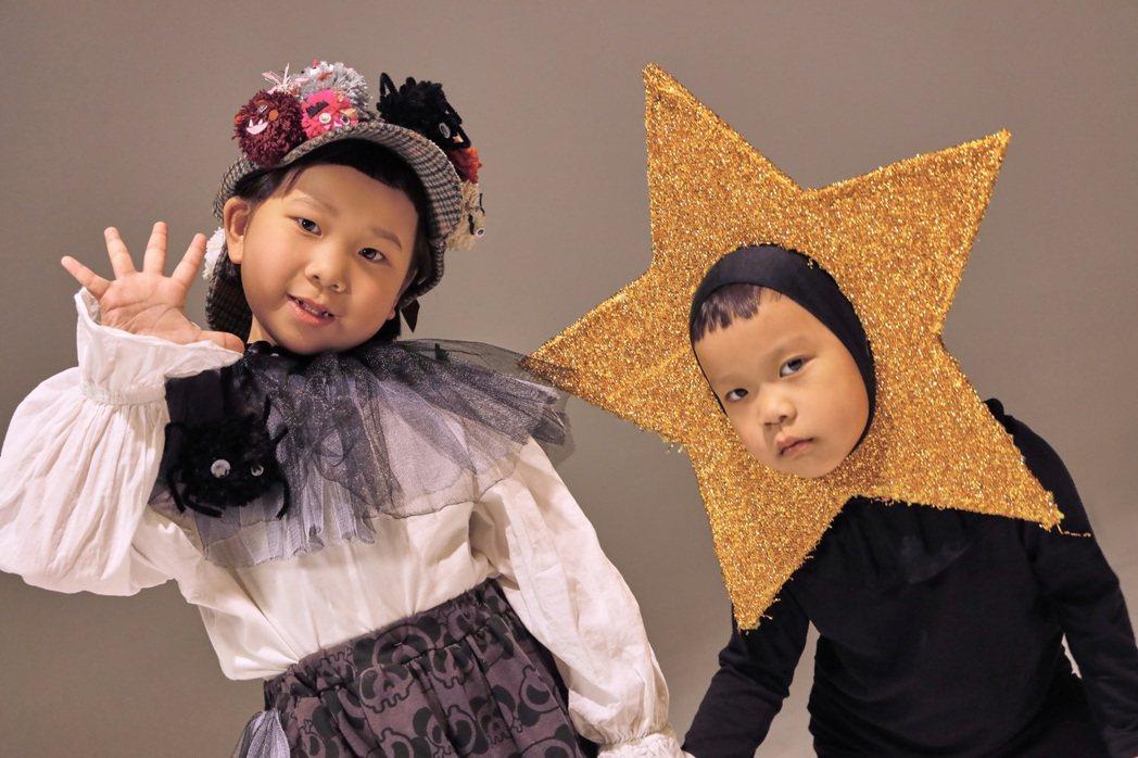 胖球(左)與妹妹斯拉在新歌「假的假的」MV中攜手變裝。圖/索尼提供
