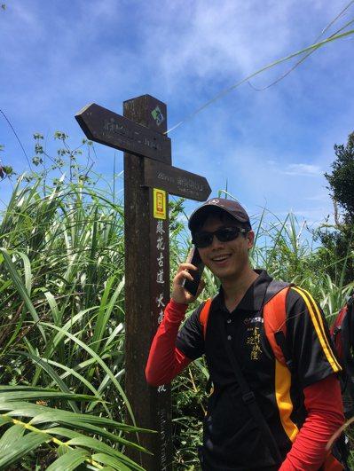 林務局羅東林區管理處與電信業者合作,在自然步道及山徑設通訊點。 圖/林務局羅東林...