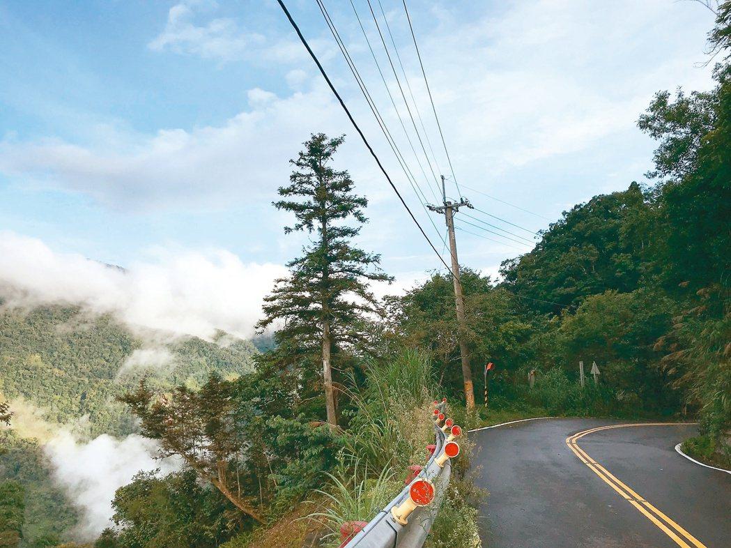 路上或山中的一些設施如電線桿、電塔,就是最好的GPS,圖為高雄藤枝山區。 圖/聯...