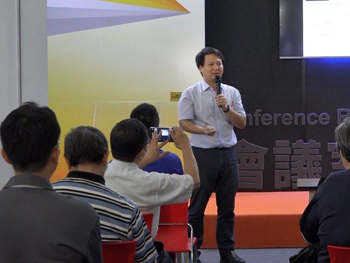 慧穩科技創辦人林耿呈,於先進製造技術展分享數位科技轉型。業者/提供
