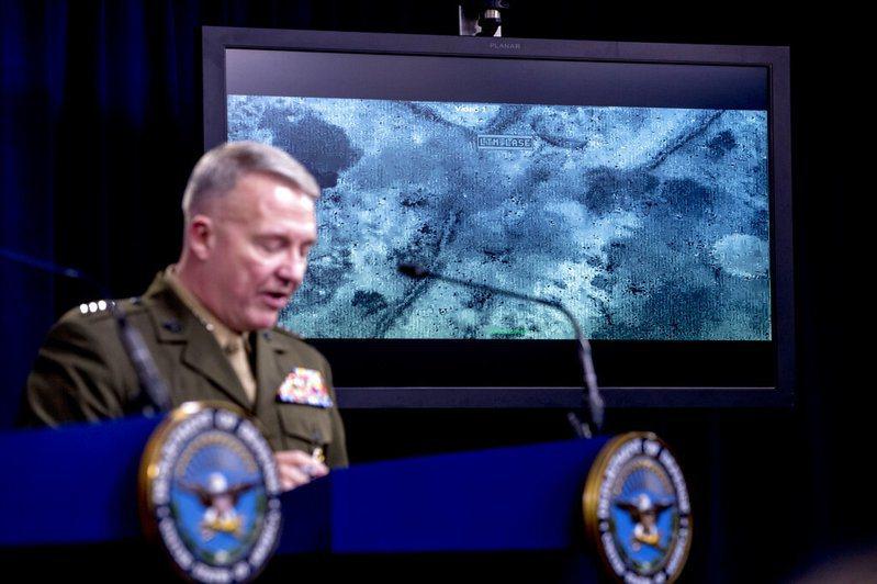 美國國防部公布畫面。美聯社
