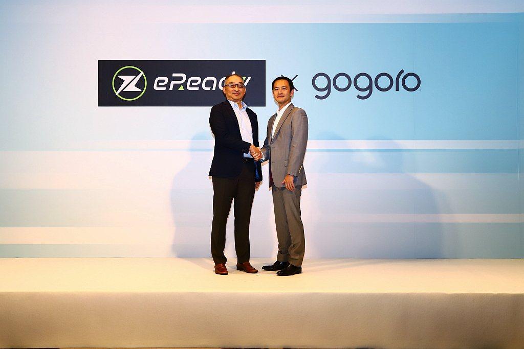 台鈴工業與Gogoro正式宣布啟動電動機車合作。 記者張振群/攝影