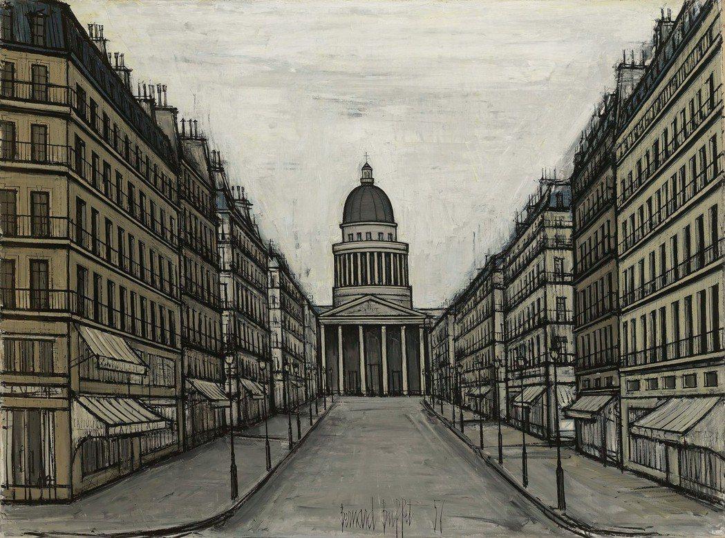 貝爾納‧畢費《巴黎萬神殿》1956 油彩 畫布 97 x 130 cm。羅芙奧/...