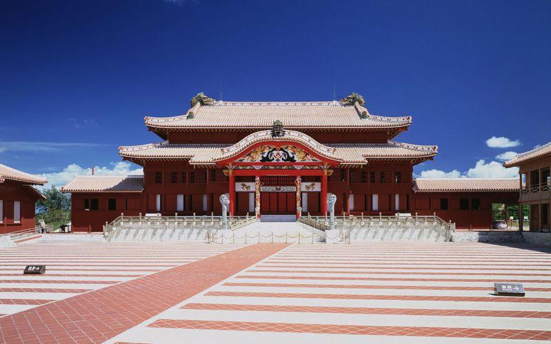 日本沖繩首里城的原貌。法新社