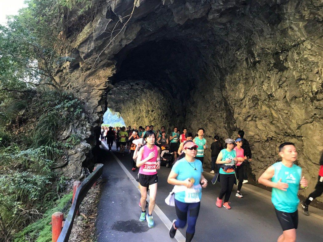 花蓮太魯閣峽谷馬拉松今年邁入第20年,是國內外知名的馬拉松賽事。圖/報系資料照片