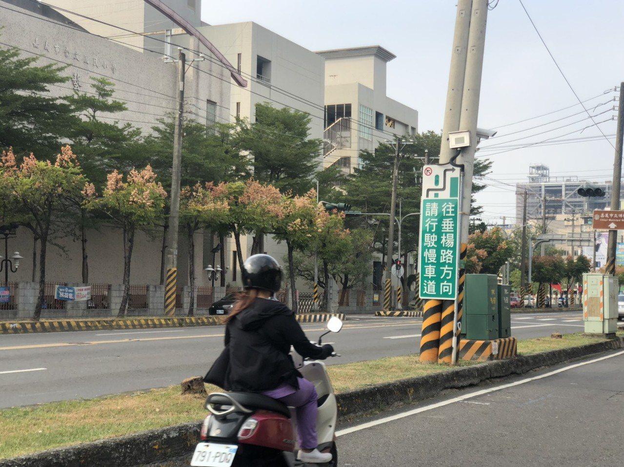 嘉義市議員蔡文旭說,吳鳳南路雙邊都有分隔島,容易產生車禍。記者李承穎/攝影