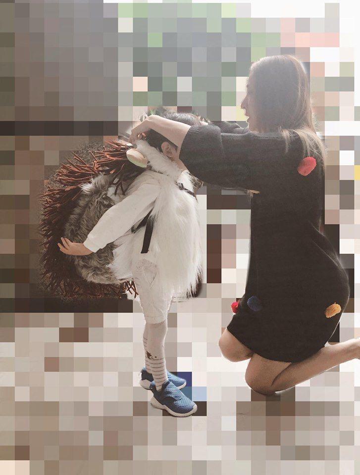 隋棠親手為兒子製作萬聖節服裝。圖/摘自臉書