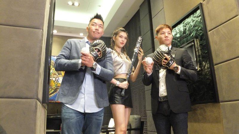 郭泓志(左)、郭俊麟(右)一起亮相,參加世界12強賽贊助廠商活動。記者藍宗標/攝影
