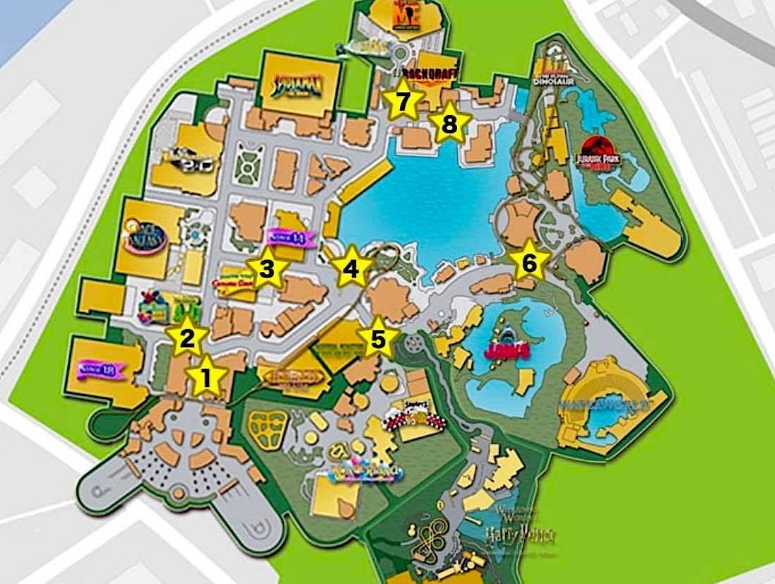 日本環球影城地圖。圖/取自ユニバーサル・スタジオ・ジャパン網站