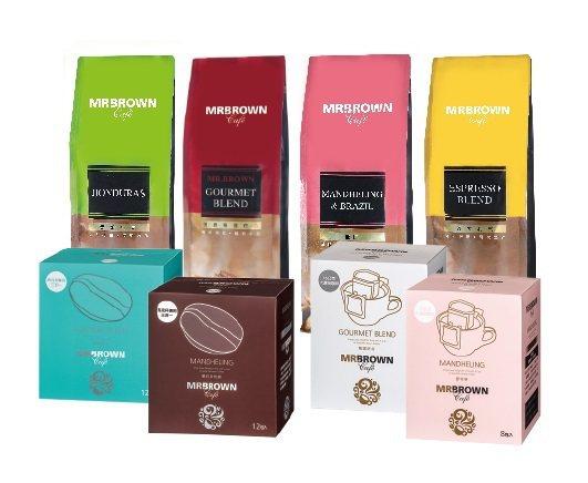 伯朗咖啡館21周年慶多款咖啡豆與沖泡類商品買一送一。圖/金車提供