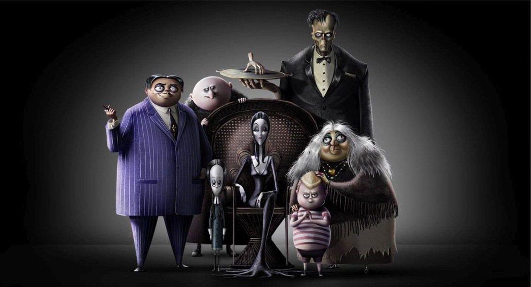 「阿達一族」動畫版的人物造型維持黑色詭異風格。圖/摘自imdb