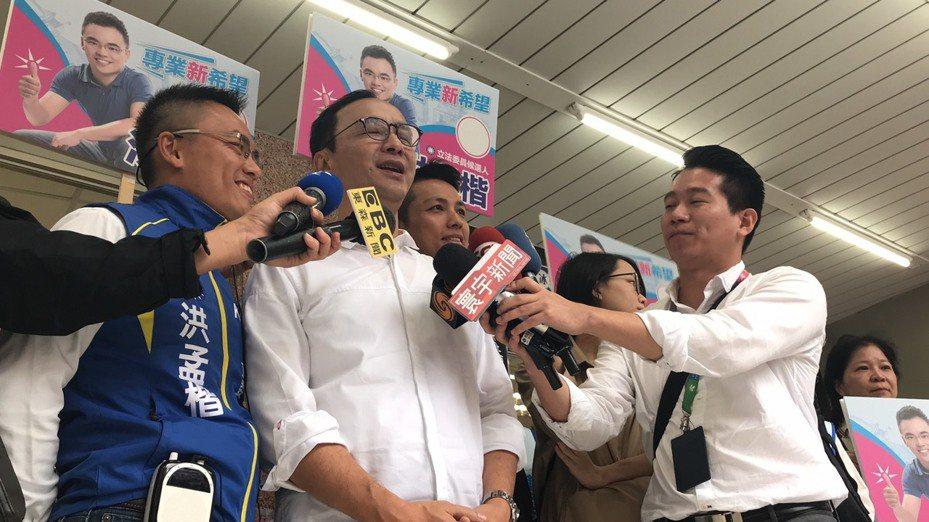 連戰點名前黨主席朱立倫出任韓國瑜全國競總主委。 記者江婉儀/攝影