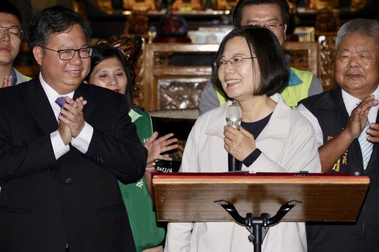 桃園市長鄭文燦頻搭舞台邀蔡總統到訪,助攻態勢明顯。圖/聯合報系資料照片