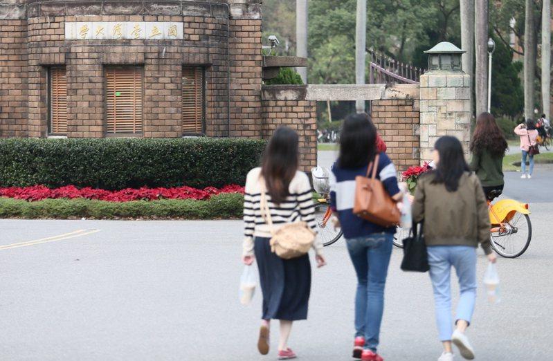 圖為台大校園大門。聯合報系資料照/記者許正宏攝影
