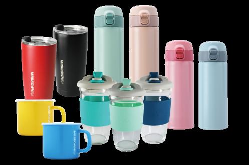 多款杯瓶商品單一特價,消費滿額再抽365天免費咖啡。業者/提供