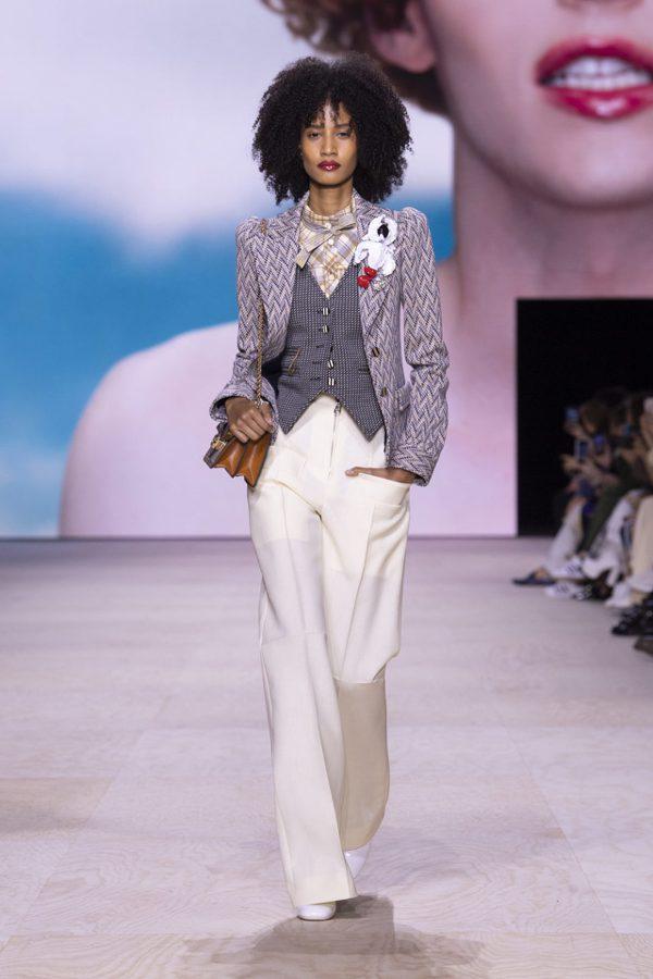 LV也推出格紋背心。圖/Louis Vuitton提供
