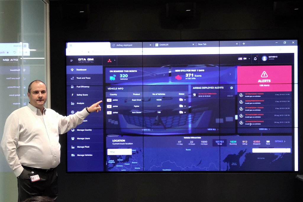 Fuso Truckonnect車輛互聯網功能,將車輛所有數據全部傳輸到原廠,分...