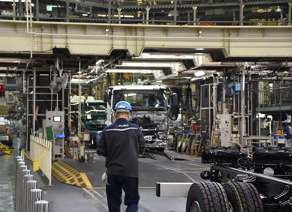 Fuso日本川崎廠區除結合總部、設計中心之外還有自1941年以來開始營運的生產線...