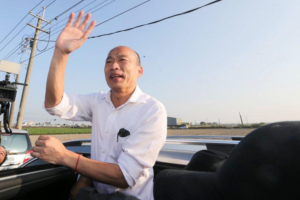 面對民調落後的窘境,韓國瑜很難在短時間內脫胎換骨,蛻變成為一位熟悉國政的政治菁英。 圖/聯合報系資料照