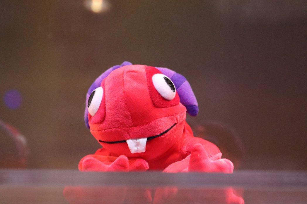 紅色的魚人寶寶murgle