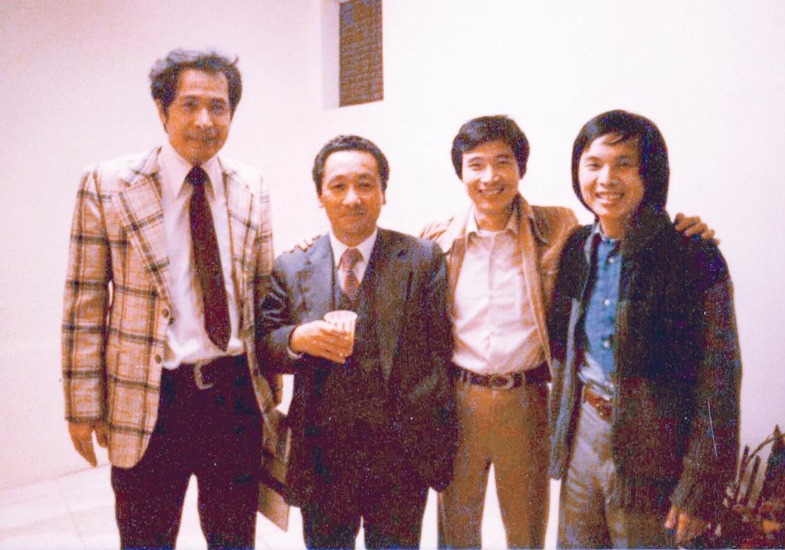 1976年,鄧維楨(左起)、康寧祥、王榮文、沈登恩合影。(圖/王榮文提供)