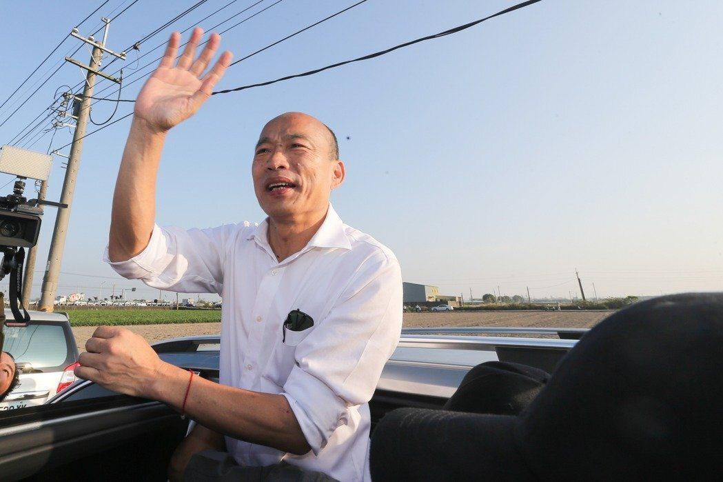 國民黨總統參選人韓國瑜。記者黃仲裕/攝影