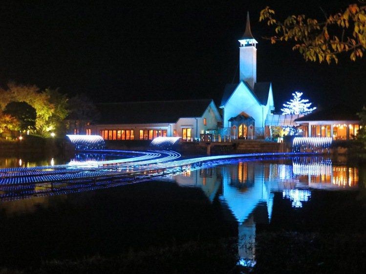 聖誕到三井OUTLET PARK爵士之夢長島,將可欣賞到浪漫燈海。圖/三井提供