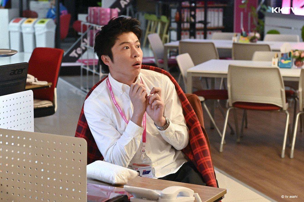 田中圭在劇中飾演菜鳥空服員。圖/KKTV提供