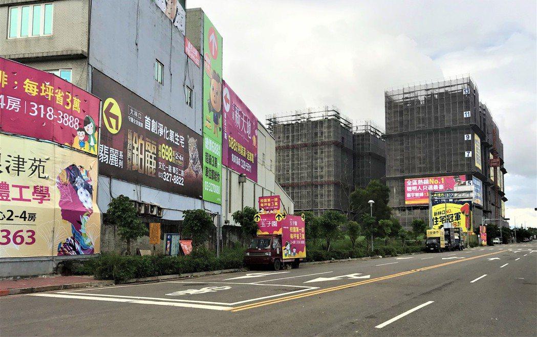 桃園龜山A7重劃區。   記者游智文/攝影