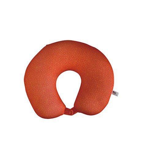 橘紅色「腸子」頸枕印有鮭魚卵圖案,吸睛度十足。圖/取自Village Vangu...