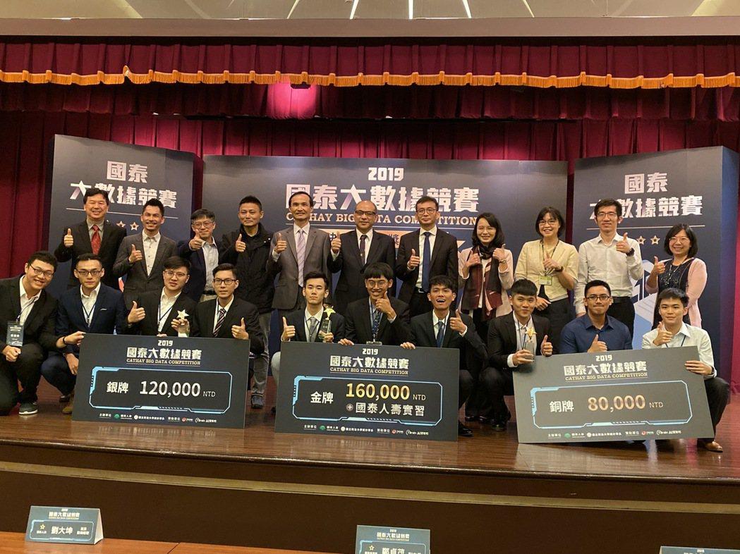 國泰人壽今年再度與國立政治大學統計學系合作舉辦「2019國泰大數據競賽」,除送出...