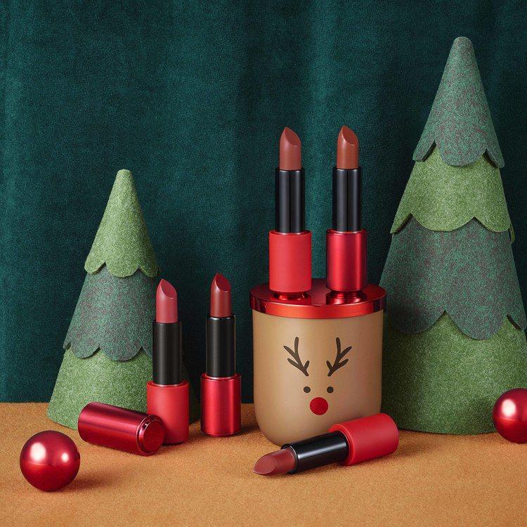 ETUDE HOUSE玩美色計亮澤唇膏推出全新限定5色,售價皆為420元。圖/E...