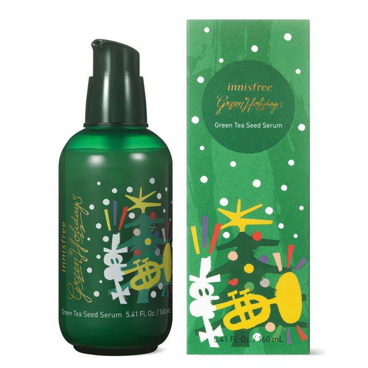 innisfree 2019綠色耶誕綠茶籽保濕精華雙倍加大版,160ml售價1,...