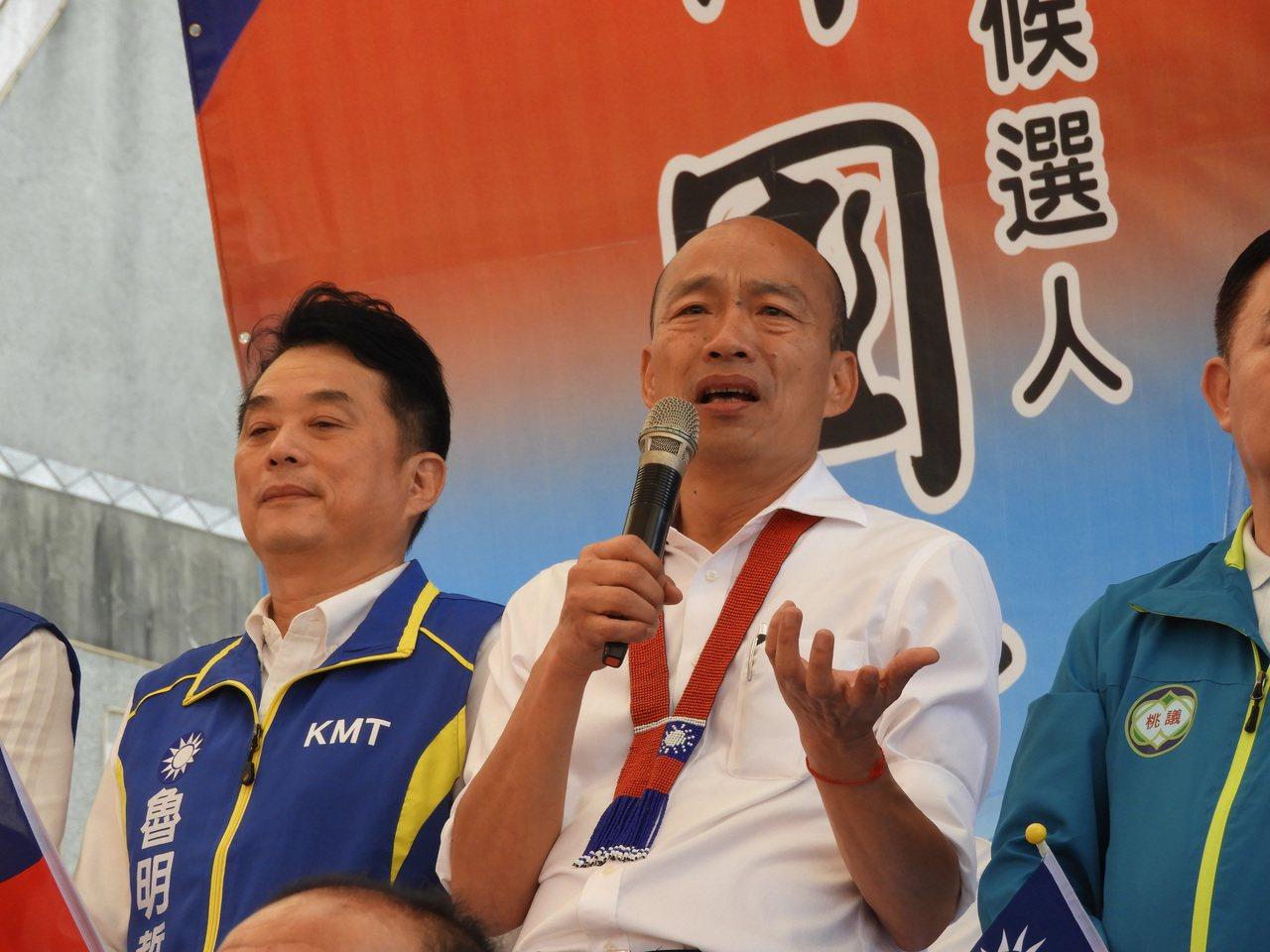 韓國瑜藉世界麵包冠軍吳寶春故事,表示大部分人民不需要大富大貴,只想過一個安穩的日...