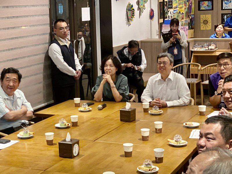 副總統陳建仁參訪屏東基督教勝利之家。記者江國豪/攝影