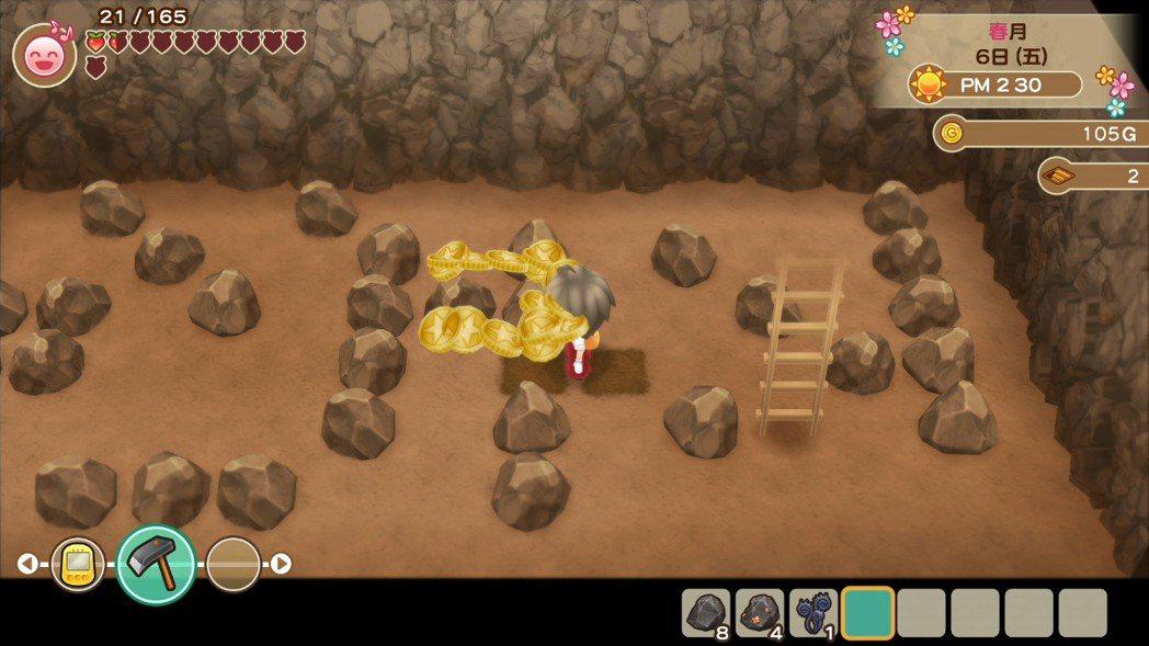 不像哆啦A夢版,只需要一支十字鎬。在《重聚礦石鎮》中,玩家得備好鐵鎚跟鋤頭,敲碎...