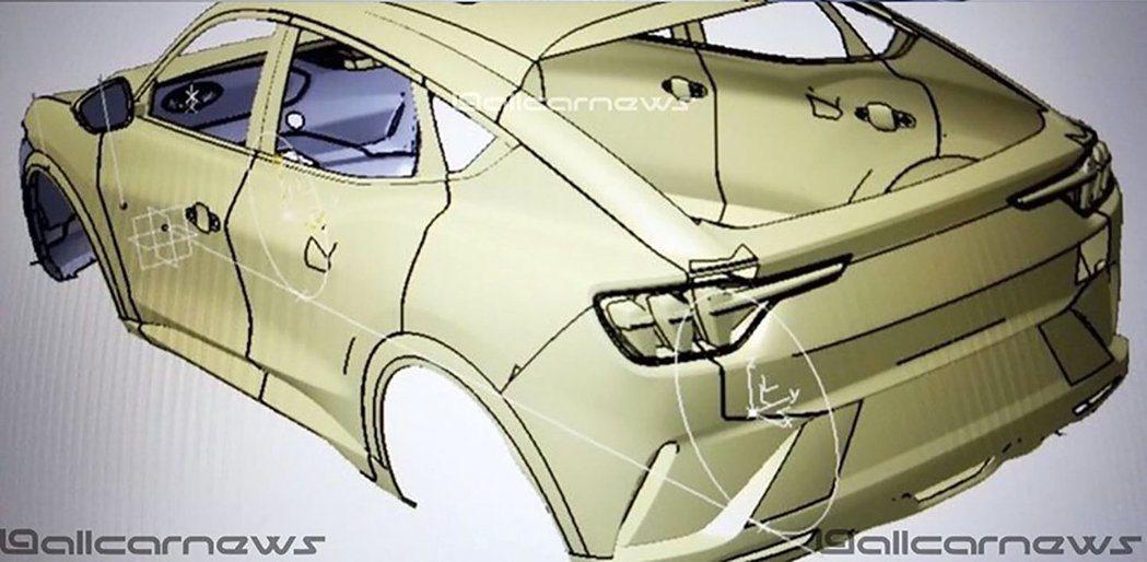 疑似是Ford純電車的設計圖先行曝光。 摘自Allcarnews