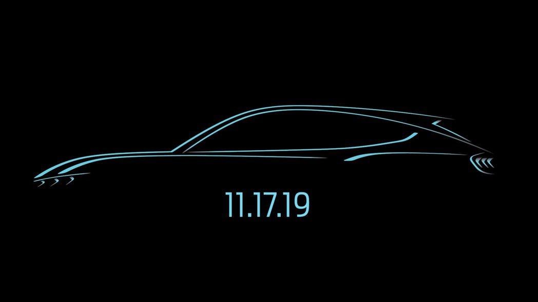 Ford以Mustang為靈感發想的純電動車,將於11月17日正式發表。 摘自F...