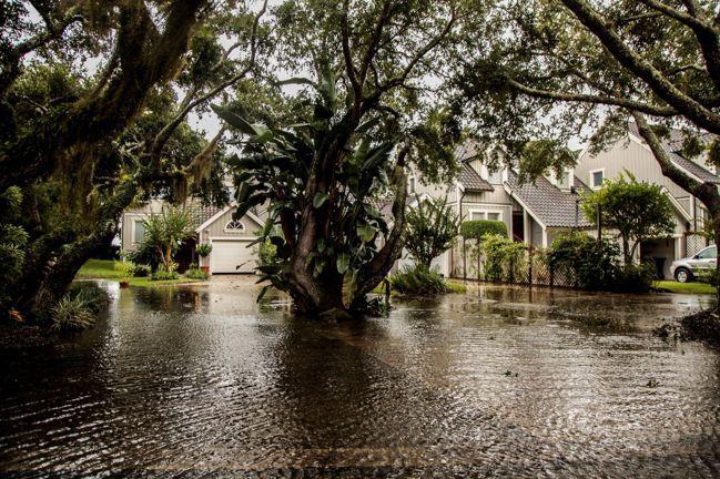 颶風多利安9月初侵襲美國佛州,導致當地許多住宅成了泡水屋。專家警告,氣候變遷對房...