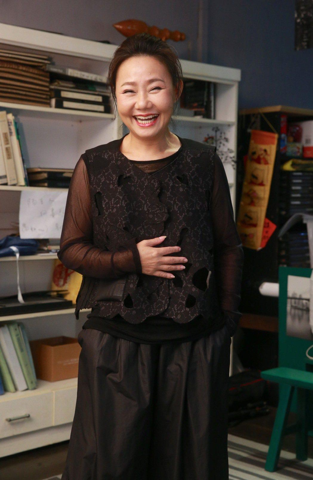 呂雪鳳成金馬準影后,臉上笑得開心,心中很緊張。記者黃義書/攝影