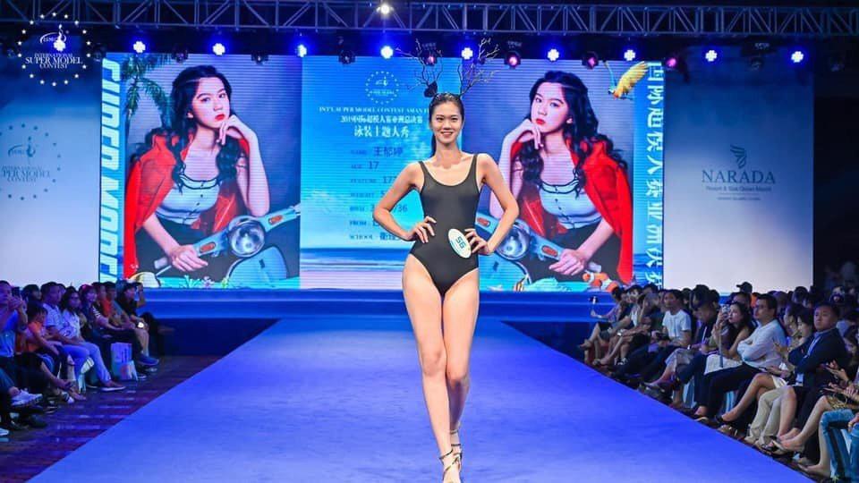 王郁婷泳裝走秀。圖/國際超模大賽組委會提供